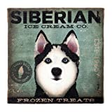Dogs Rock Siberian Husky Wall Art, Blue