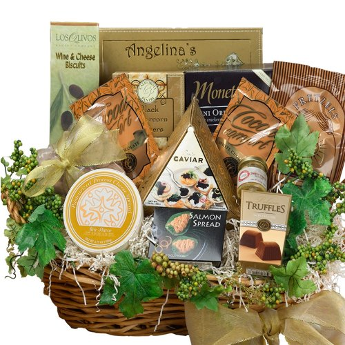 Art of Appreciation Gift Baskets Savory Sophisticated Gourmet Food with Caviar, Summer Large