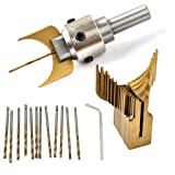 KUKALE Tools Carbide Ball Bits Blade Woodworking Milling Cutter Molding Buddha Beads Router Bit Drills Set Accessories (Color: As shown in the picture, Tamaño: As the description shown)