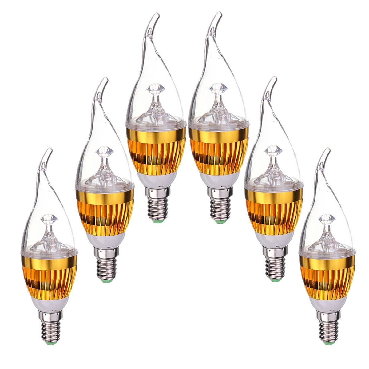 Kit 6 lampade led candela e14 dimmerabile 3w bianco freddo for Costo lampada