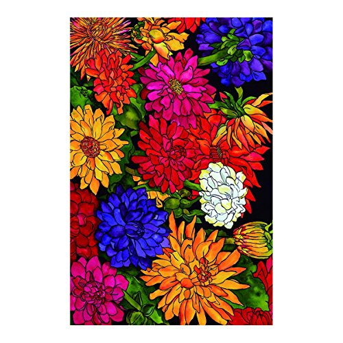 KIDDIE Flag Dizzy Dahlias Garden Flag decorative flags initial flags party flags 12.5 x 18 Inch Double Sided banner home flags Print house flags (Dizzy Rain Boots compare prices)