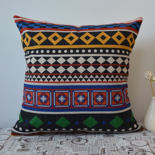 45X45Cm Bohemia Bohemian Style Boho Pillow Case Linen Cushion Cover front-334671