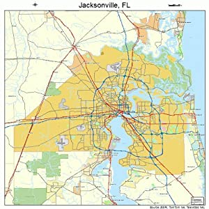 Jacksonville Fl Map Car Interior Design