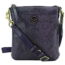 Coach Embossed Exotic Leather Swingpack Crossbody Bag, Style 50116 Purple
