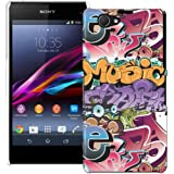 Sony Xperia Z1 Compact H�lle Hardcase (Harte R�ckseite) Case H�lle Cover - Graffiti Bomben Design Muster Schutzh�lle f�r Sony Xperia Z1 Compact