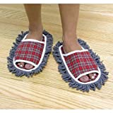 Jobar Plaid Dust Mop Slippers