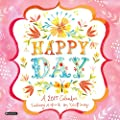 Orange Circle Studio 16-Month 2015 Wall Calendar, Happy Day by Katie Daisy (51147)