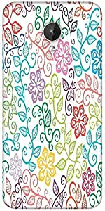 Snoogg Seamless Texture With Flowers And Butterflies Endless Floral Pattern Designer Protective Back Case Cover For Micromax Canvas Spark Q380