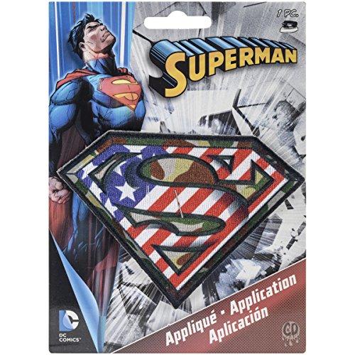 Application DC Comics Superman Camo Logo Patch
