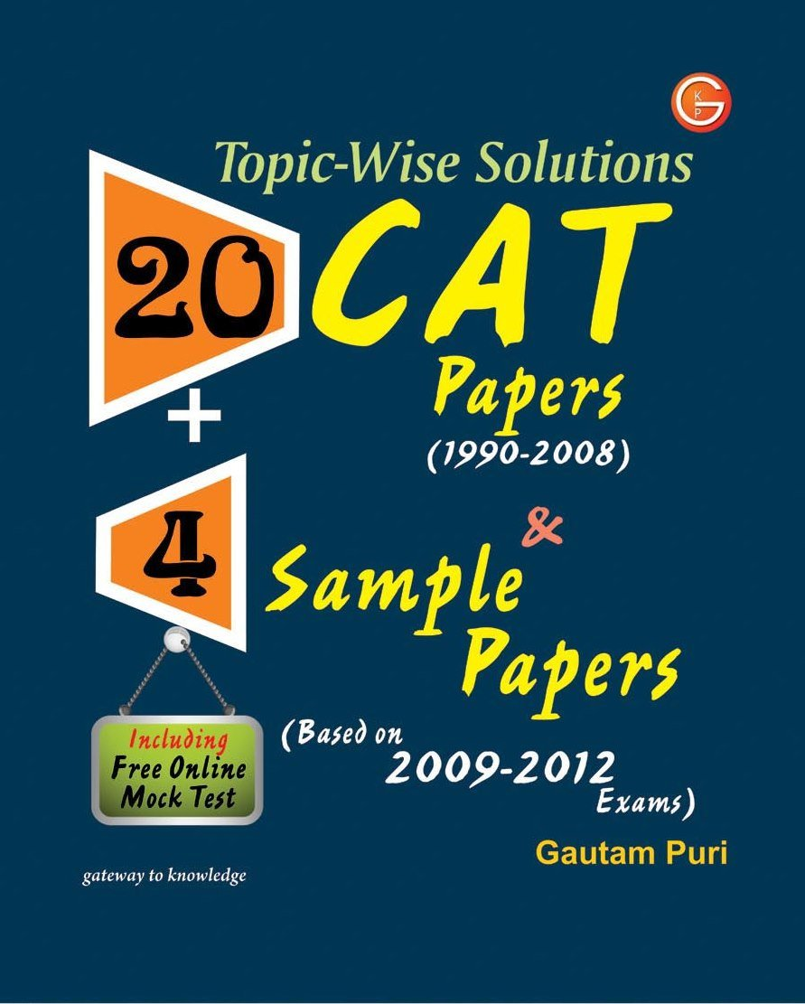 buy cat papers sample papers including online mock buy 20 cat papers 4 sample papers including online mock test book online at low prices in 20 cat papers 4 sample papers including