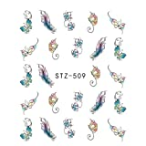 Nail Sticker, Koolsants Nail Art Self-Adhesive Transfer Foil Stickers Tips Major Multi Design Decal Tips Manicure DIY Supplies (Color: Stz-509)