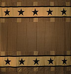 Jamestown Black And Tan Shower Curtain Home Kitchen
