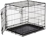 AmazonBasics Single-Door Folding Metal Dog Crate - Small...