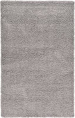 Modern Plush Solid Shag Contemporary Area Rug