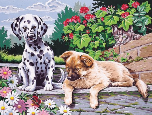 Dogs Watching Paint By Number Kit