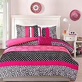 Mi Zone Chloe Comforter And Decorative Pillow Set Pink Full