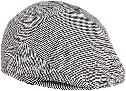 Lyle and Scott Men's Plain Flat Cap - Black, One Size