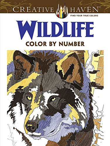 Creative Haven Wildlife Color By Number Coloring Book Creative Haven Coloring Books