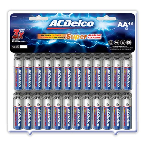 ACDelco AA Super Alkaline Batteries, 48-Count (Ac Delco Batteries 48 compare prices)