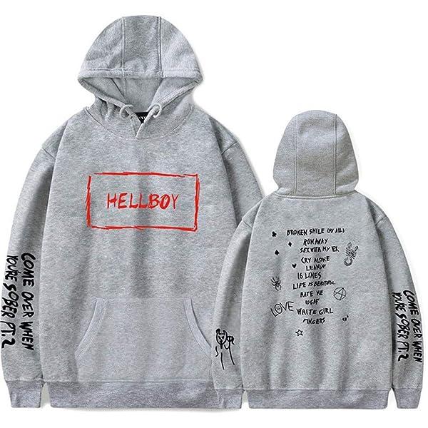Fushimuma Unisex Rapper Lil Peep Crybaby Hoodie Sport Hip Hop Fans Sweatshirt Sweater Costume