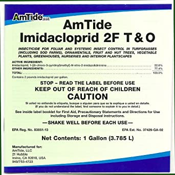 AmTide Imidacloprid 2F T & O Gallon 22.6% White Fly Systemic Insecticide Geniric Merit