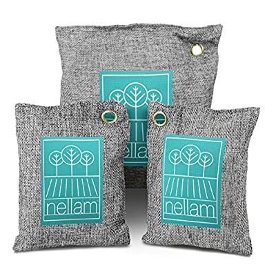 Nellam Activated Bamboo Charcoal Natural Deodorizer and Dehumidifier (Multi-Bags) Ecofriendly Allergy-Free Filters - Air Purifiers Eliminate Car, Shoe, Diaper Pail, Refrigerator Odor Naturally