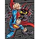 "Superman Daily News Twin Size Plush Blanket 60""x80"""