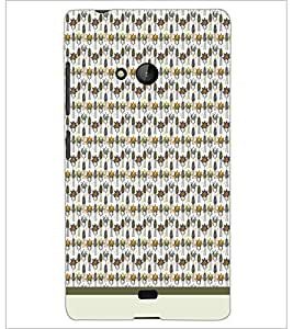 PrintDhaba Pattern D-1547 Back Case Cover for MICROSOFT LUMIA 540 (Multi-Coloured)