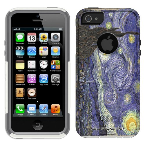 Great Sale Otterbox Commuter Series Van Gogh Starry Night Hybrid Case for iPhone 5 & 5s