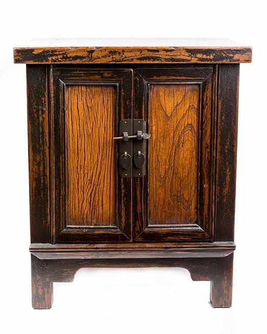 Comodino cinese mobili piccolo comodino marrone scuro vintage orientale asiatico soggiorno camera da letto Decor interior armadi comodini