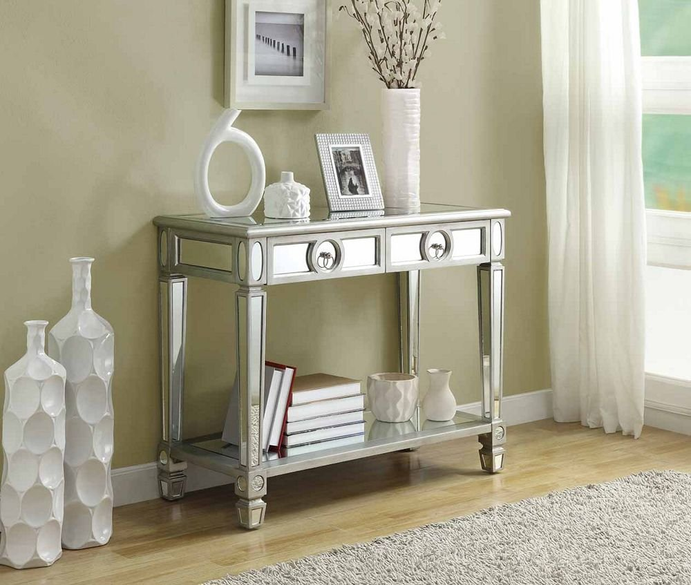 Monarch Specialties Length Sofa Console Table With 2