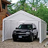 ShelterLogic 12 x 20- Feet Canopy Enclosure Kit, Fits 2- Inch Frame, White