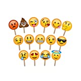 Emoji Photo Booth Props - Large Enough to Cover The Face - Ideal for Weddings and Parties - Huge Pack of 15