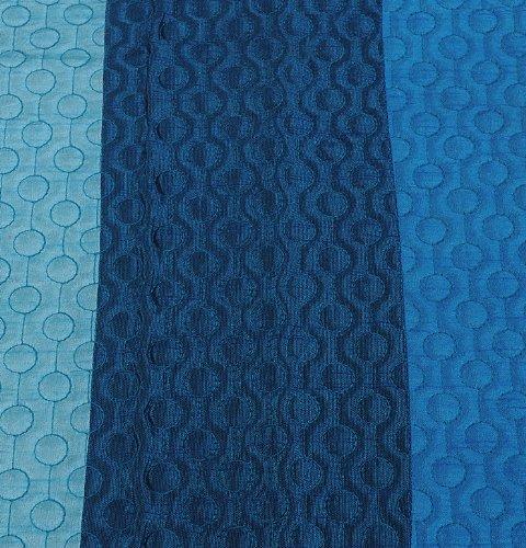 Colcha Matrimonial Silk Bed Adorna con Patch Work con Pillow & Cushion Covers Tamaño 88 x 108 pulgadas