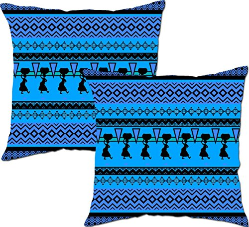 Viceroy,Africans Patterns Designer Digital Print 3d Big Cushion Covers 24x24 inch. (Sett/Pack of 2pcs).