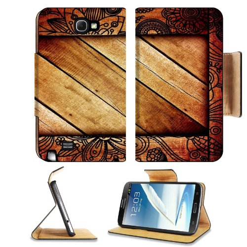 Pattern Wooden Block Print Samsung Galaxy Note 2 N7100 Flip Case Stand Magnetic Cover Open Ports Customized Made To Order Support Ready Premium Deluxe Pu Leather 6 1/16 Inch (154Mm) X 3 5/16 Inch (84Mm) X 9/16 Inch (14Mm) Liil Note Cover Professional Note