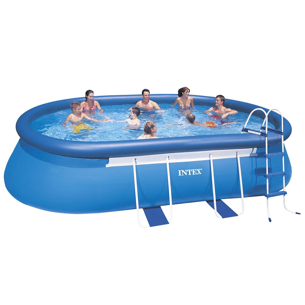 Pool Intex Oval Frame 610x366x122 cm Ovalrohrgriffe jetzt kaufen
