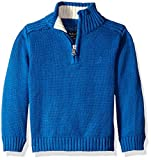 Nautica Baby Zip Neck 'Freeport' Quarter Zip Sweater, Medium Blue, 18 Months