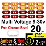 10 Pcs Amber + 10 Pce Red TMH 2.5
