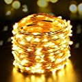 LUCKLED 200 LED Outdoor String Lights, 66ft Dimmable Copper Wire Lights, IP65 Waterproof Lights with UL Listed Adapter, Perfect for Bedroom, Patio, Christmas, Decorative Lights (Warm White)
