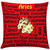Red Aries Cushion- Cushion 1, Fillers 1, Cushion online, 12x12 cushion with fillers, cushions for aries online, gifts for aries friends, gifts for aries man, birthday gifts for aries, free shipping, free gift wrap, Zodiac Gifts, Aries Gift Collection, Aries Gift Ideas, Home Decor Items-GIFTS1666