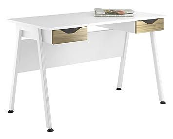 Kit à mon bureau uclic un cadre Bureau Armoire avec double tiroir, en métal, Olive Clair, 1200mm