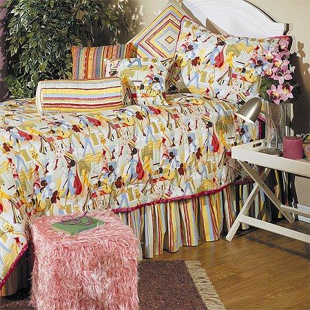 Futuruistic Girl Comforter Set, Twin