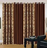 Exporthub Export Hub Eyelet Door Curtains (Set Of 4) - 9 X 4 Feet, Ehspr157_94