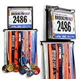 Gone For a Run BibFOLIO Plus Race Bib and Medal Display   Wall Mounted Medal Hanger – Displays up to 24 medals and 100 race bibs