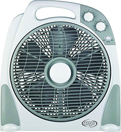 Argoclima Aster Ventilatore Box con Comoda Maniglia, 3 Velocità, Silenzioso, Diametro 30 cm