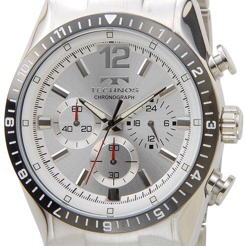 [テクノス]TECHNOS T1019TS クロノグラフ クォーツ シルバー メンズ腕時計
