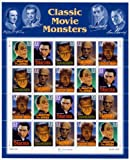 Classic Movie Monsters Collectible Stamp Sheet