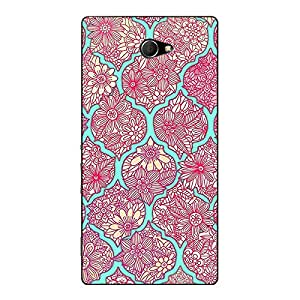 Jugaaduu Pink Morroccan Pattern Back Cover Case For Sony Xperia M2 Dual