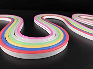 Pearlight DC12V Silicone LED Neon Rope Light, Waterproof for Indoor & Outdoor Decoration DIY Signboard (Color: White)